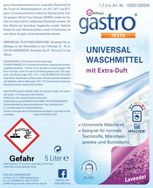 Gastro Universalwaschmittel 5 Liter Lavendel