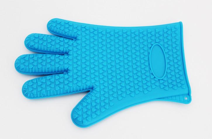 Silikon Wounder Backhandschuh blau