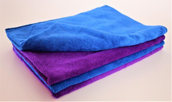Clean Wounder Revolution Mikrofasertücher 4er Set Blau/Lila