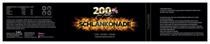 200% Jens Schilling - Schlankonade Bratapfel