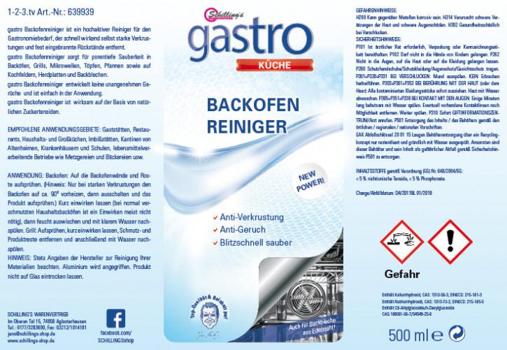 Gastro Backofenreiniger 3x500ml