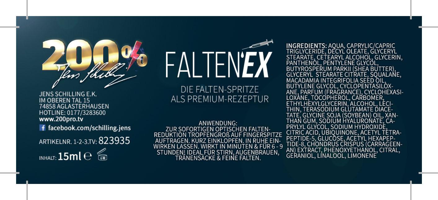 Falten-EX Sofortserum Anti Falten Creme Serum Augenserum