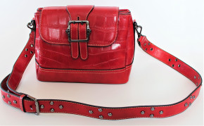 Bags by CG, Umhängetasche rot Kroko